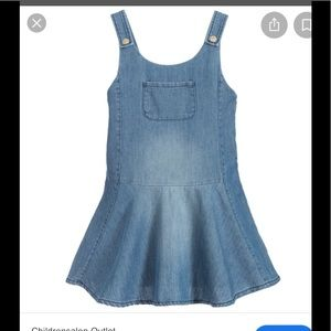 Chloe girls denim pinafore dress size 8